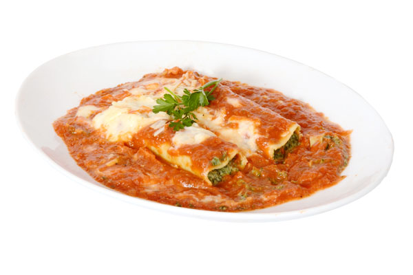 Spinach & Ricotta Cannelloni - Food